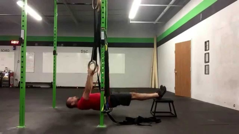 Supine Ring Row