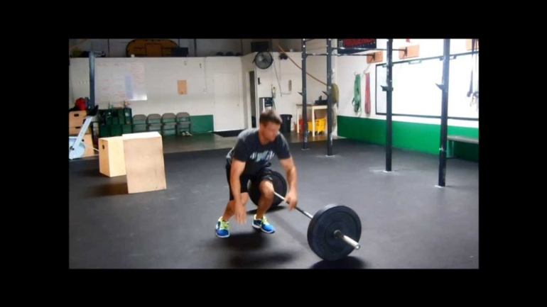 Burpee Over Barbell